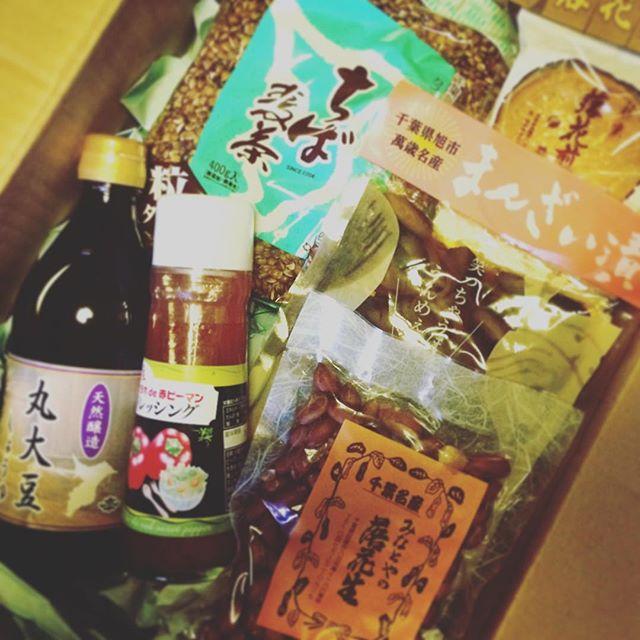 千葉県匝瑳市の名産品をいただきました!八日市場駅前の「匝りの里」で購入できるそうです!お心遣いありがとうございます (from Instagram)