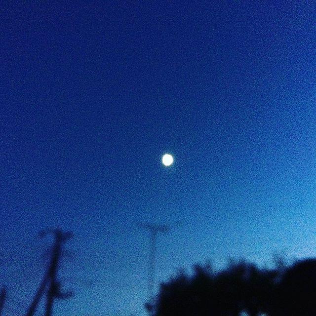 昨日の、お月様と木星?かな月はちょうど半月ほど (from Instagram)